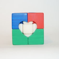 Download STL file FDM Center Heart Cube • 3D printable model, Vladimir310873