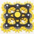Free 3D printer file New hand spinner nine gears, Vladimir310873