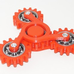 Free Hand spinner four gears 3D printer file, Vladimir310873