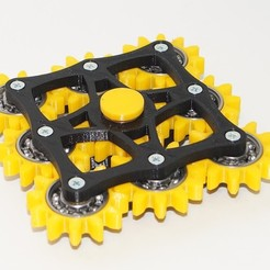 Free 3D printer file New hand spinner nine gears, Vladimir310873