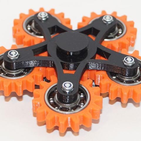 DSC06491.JPG Download free STL file New hand spinner six gears • Template to 3D print, Vladimir310873