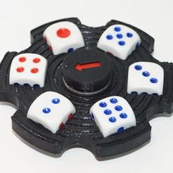 Fichier imprimante 3D gratuit Générateur de nombres aléatoires à spinner à main, Vladimir310873