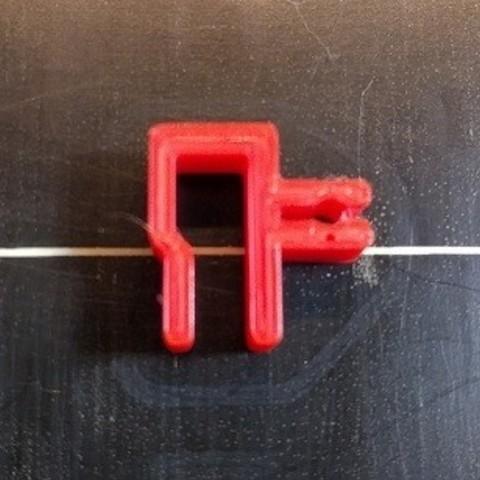 FilamentClip01.jpg Télécharger fichier STL gratuit Filament Clip, Filament Holder, Filament Keeper • Plan imprimable en 3D, jwilson484