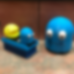 Pacman_ghost.stl Download free STL file Pacman Ghost • 3D printer model, Hex17