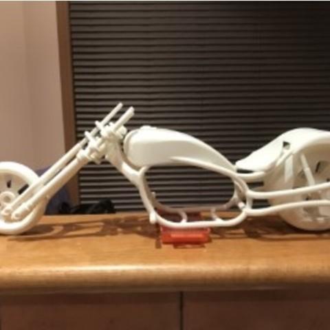 Télécharger fichier STL gratuit Conception amusante de moto, Hex17