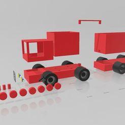 Télécharger STL Camion modulable pour enfant, Tazmaker