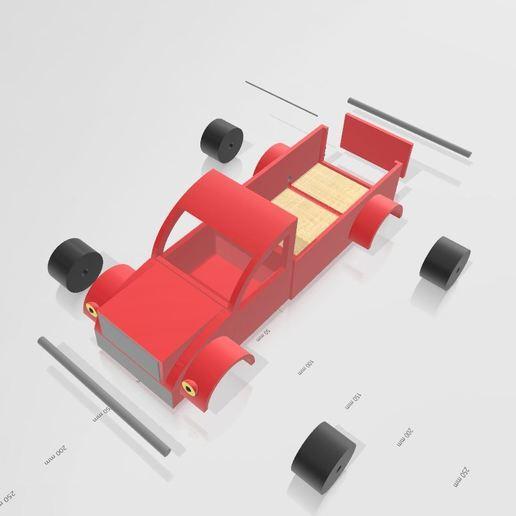 Télécharger fichier impression 3D camion hot rod, Tazmaker
