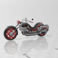 Download free STL file motorcycle • Design to 3D print, Tazmaker