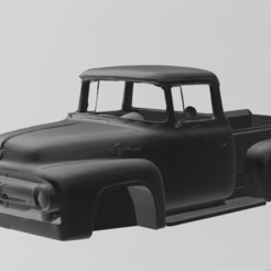 1.JPG Download free OBJ file Ford F100 • 3D printing model, Tazmaker