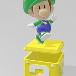 Download free 3D printer files baby luigi, Tazmaker