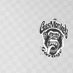 Télécharger modèle 3D porte clé Gas Monkey, Tazmaker