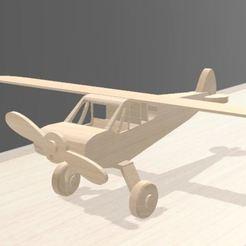 Télécharger STL avion jouet pour enfant, Tazmaker