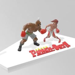 Download free 3D printer templates Super Punch Out scene, Tazmaker