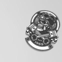 """Télécharger plan imprimante 3D Porte clé """"skull"""", Tazmaker"""
