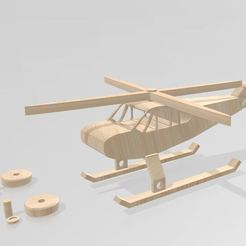 Download 3D printing templates Children's toy helicopter, Tazmaker