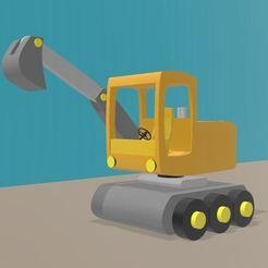 Imprimir en 3D excavadora de juguetes para niños, Tazmaker