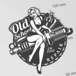 Descargar archivos 3D llavero de pin-up, Tazmaker