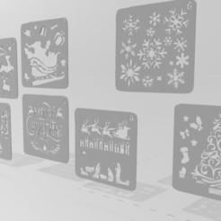 Download 3D print files Christmas stencil, Tazmaker