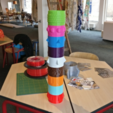 Free 3d printer designs Interlocking Rocket Stack, macouno