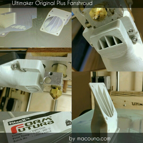 Free stl Ultimaker Original Plus Fanshroud, macouno
