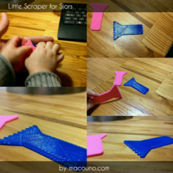 Free Little Scraper for Sjors 3D printer file, macouno
