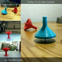 Free 3d print files Top / Spin Toy for Jimmy Gunawan, macouno