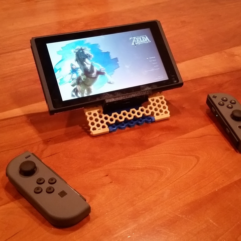 Download free STL file Nintendo Switch Stand, now with Hexagons! • 3D printable template, Zippityboomba