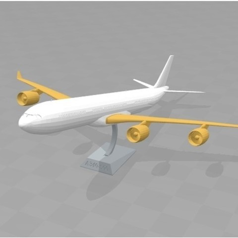 f5f59700198b6ed36a5bb69650fc5e1d_preview_featured.jpg Download free STL file A340 1:200 single bed print • 3D print object, Zippityboomba