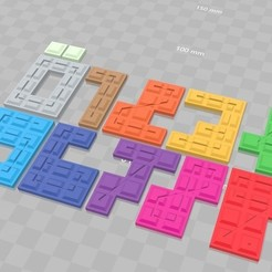 Download free STL files Number Stacking Game Replacement Parts, Zippityboomba