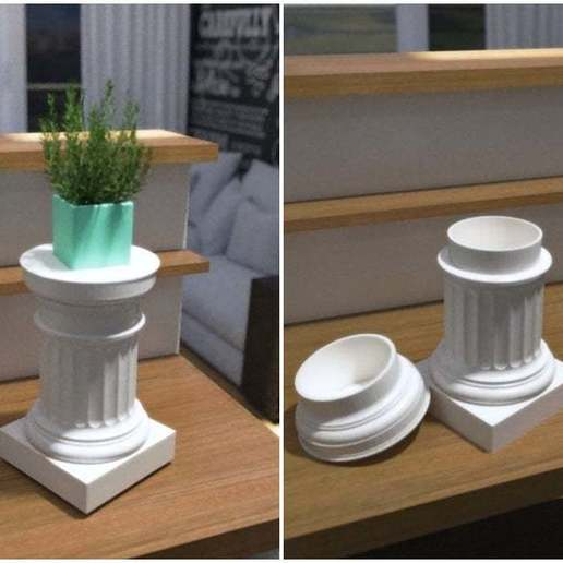 Download free 3D model Doric Pedestal Container, Zippityboomba