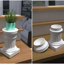 Download free STL file Doric Pedestal Container • 3D print template, Zippityboomba