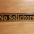 Download free STL file No Solicitors • 3D printable design, Zippityboomba
