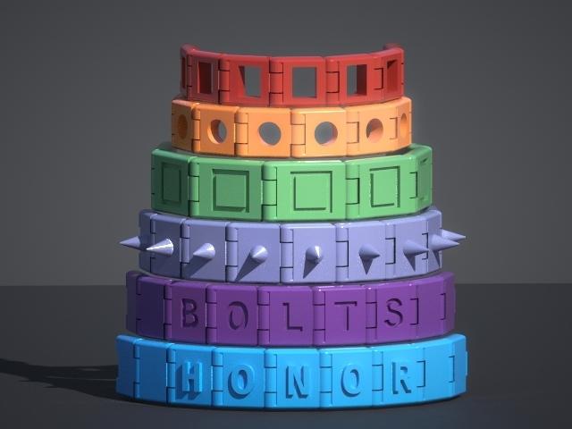 6collarrender02a.jpg Download free SCAD file Customizable Bracelet • 3D print model, Zippityboomba