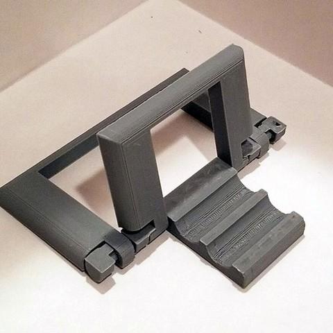 0cc1da5863beb2ab75b18e5602797a1c_display_large.jpg Download free STL file Parametric Folding Phone Stand • 3D printing design, Zippityboomba