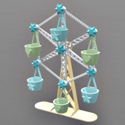 Download free STL file Ferris Wheel for Minis • 3D print object, Zippityboomba