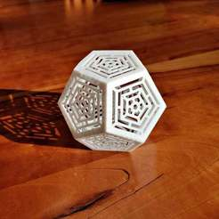 Download free STL file Folding Ornate Dodecahedron • Model to 3D print, Zippityboomba