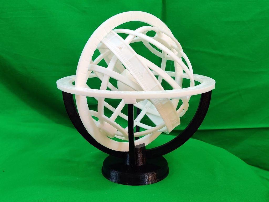 IMG_20201012_090900.jpg Descargar archivo STL gratis Esfera Armiliar • Diseño para imprimir en 3D, Zippityboomba