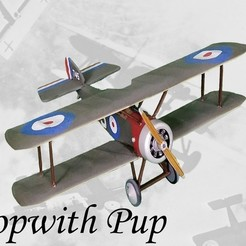Download free STL file Sopwith Pup • 3D printer template, Zippityboomba