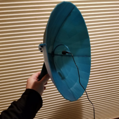 Download free STL file Parabolic Microphone, 340mm • 3D print template, Zippityboomba