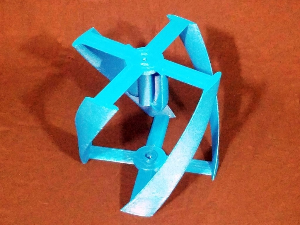 2054bd03f747c9eaae3157ba587bc2e3_display_large.jpg Download free STL file Vertical Wind Turbine - Parametric • 3D printing model, Zippityboomba