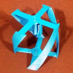 Download free 3D printing files Vertical Wind Turbine - Parametric, Zippityboomba