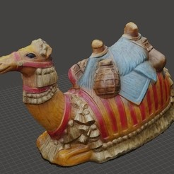 Download free STL file Nativity Camel 3D Capture • 3D printing object, Zippityboomba