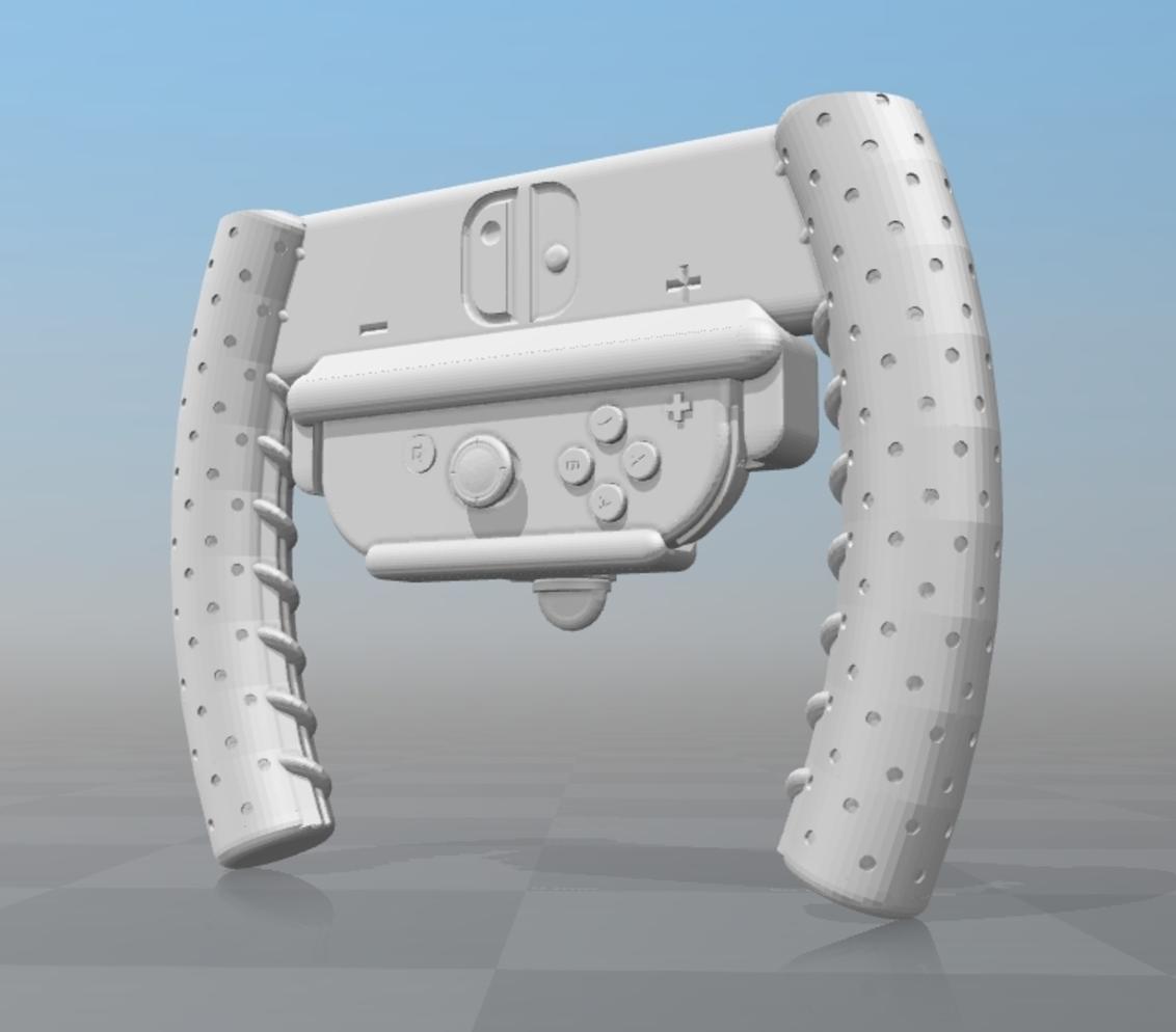 Capture d'écran 2017-04-28 à 17.25.10.png Download free STL file ZB KartWheel - Nintendo Switch Steering Wheel • 3D printing design, Zippityboomba
