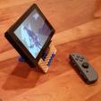 Imprimir en 3D gratis Nintendo Switch Stand, ahora con hexágonos!, Zippityboomba
