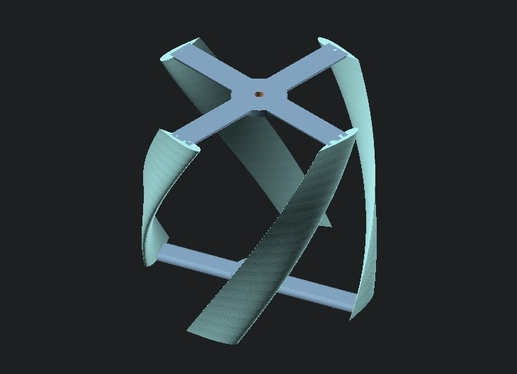 e3c2b70e75b86971b768623934a8fe2d_display_large.jpg Download free STL file Vertical Wind Turbine - Parametric • 3D printing model, Zippityboomba