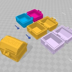Download free STL file Tinkercad PiP Hinged Box Tutorial • 3D print template, Zippityboomba