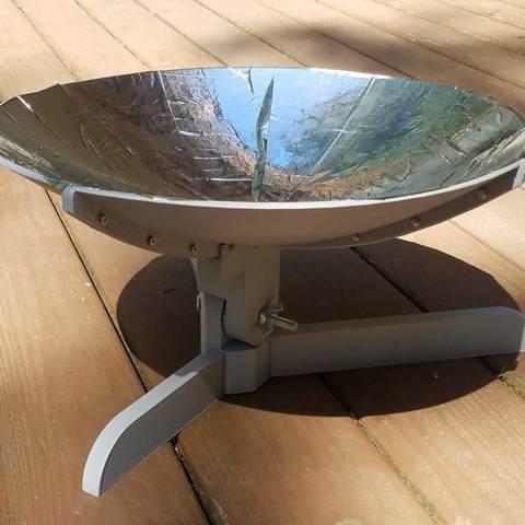 Free 3D printer designs Solar Cooker - Prototype, Zippityboomba