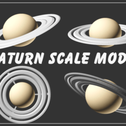 Download free SCAD file Saturn Scale Model • 3D printer design, Zippityboomba