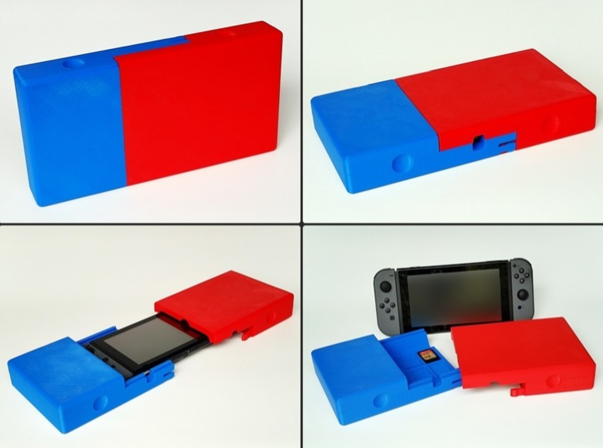 Capture d'écran 2017-04-12 à 09.42.57.png Download free STL file Switchbox - Travel Case for Nintendo Switch • 3D printable object, Zippityboomba