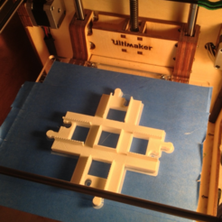 Download free 3D printer model Duplo-compatible Cross Track, Zippityboomba